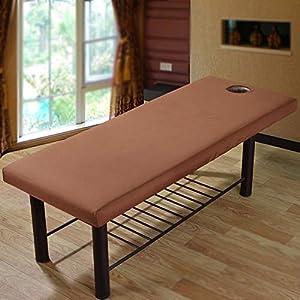 Massageliege, professionelles weiches Massageliege, elastisches Polyester, rundum Wickel-Massage-/Massageliege, mit Loch, 70 x 190 cm