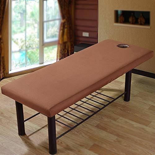 2 pcs Drap de lit de massage avec trou de visage universel Beauté Lit Drap-housse élastique Canapé Coque haleine doux Spa pour salon de beauté du visage
