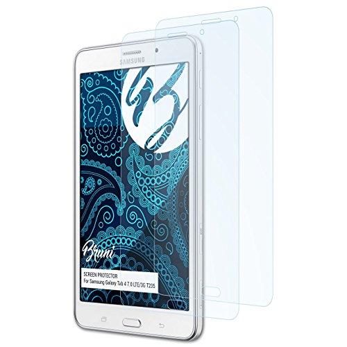 Bruni Schutzfolie für Samsung Galaxy Tab 4 7.0 LTE/3G T235 Folie, glasklare Displayschutzfolie (2X)