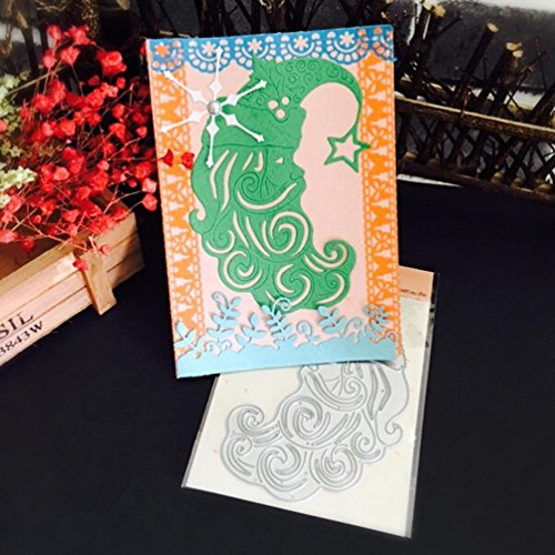 FEITONG Metall Cutting Dies Stanzformen Schablonen DIY Scrapbooking Album Papier Karte Weihnachten Halloween Handwerk (1pc, N:81x117mm) (Making Halloween Dekoration)