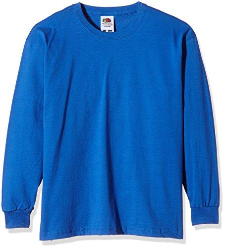 Fruit of the Loom Mädchen T-Shirt SS019B, Blau (Königsblau), 14-15 Jahre