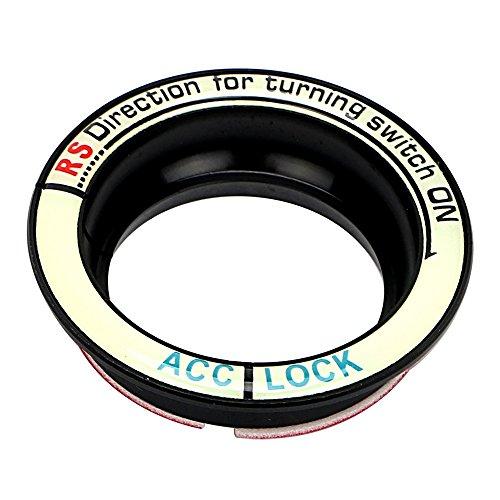 Odster - Luminous d'allumage de Voiture Keyhole Bague Couverture pour Ford Focus 2 3 4 Kuga Voiture de Coiffure Autocollants de Voiture et Décos Accessoires Auto [Noir ]