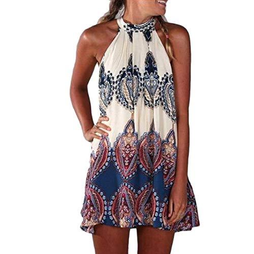 FeiXing158 Kleidungs-neues Sommerkleid Chiffon- Sleeveless Blumen-Party-lose beiläufige Frau -