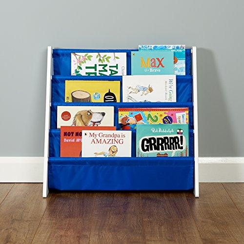 Roost - Bücherregal für Kinder - mit 4 Fächern - weiß/blau (Spielzimmer Bücherregal)