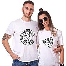 King Camiseta Pareja 100% Algodón Shirt Queen Impresión 2 Piezas T-Shirt  Manga Corta e54a5a5ad408b
