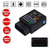 Bosmutus HH OBD2 ELM327, OBD-II Scanner Bluetooth Check Engine Light Auto Diagnostic Scanner Tool V1.5 Android Windows