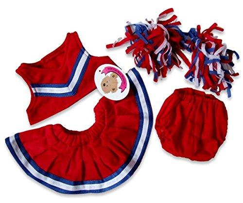 build-your-bears-wardrobe-vestito-da-cheerleader-per-orsetto-di-peluche-da-40-cm-circa-rosso