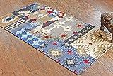 Manchester der East rugkl-2102–080150Schwedisches Design aus Wolle handgefertigt 2'20,3cm X 5' Multicolor Kilim Bereich Teppich, Stil: 2102