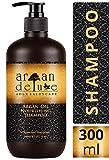 Argan Deluxe Shampoo in Friseur-Qualität 300 ml - stark pflegend mit Arganöl für Geschmeidigkeit und Glanz - ADLX Saloncare