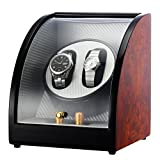 CHIYODA Automatische Uhrenbeweger 2 Uhren für Automatische Uhren Super Leiser Motor 12 Modus Geräuschpegel-5dB Watch Winder [100% Handarbeit]
