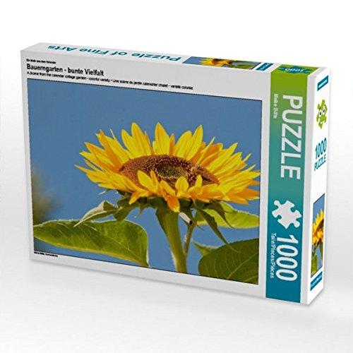 Ein Motiv aus dem Kalender Bauerngarten - bunte Vielfalt 1000 Teile Puzzle quer - Lavendel Kürbis