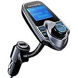 Transmisor FM Bluetooth de VicTsing Manos Libres Cargador con Audio de 3.5mm Mic Puerto, Ranura para Tarjeta del TF para Coche