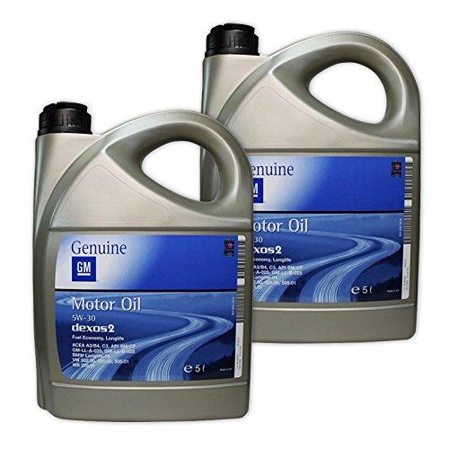Preisvergleich Produktbild 2x 5 L = 10 Liter Opel GM 5W-30 dexos2 dexos 2 Motor-Öl Motoren-Öl; Spezifikationen/Freigaben: ACEA A3/B4 + C3; BMW Longlife-04; API SM/CF; GM-LL-A-025 + GM-LL-B-025; VW 502 00, 505 00, 505 01; Merced