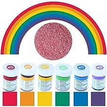 wilton lot de 6 flacons de colorant alimentaire couleurs de larc en - Colorant Alimentaire En Poudre Pas Cher