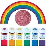 Wilton Lot de 6 flacons de colorant alimentaire Couleurs de l'arc-en-ciel 6 x 28 g