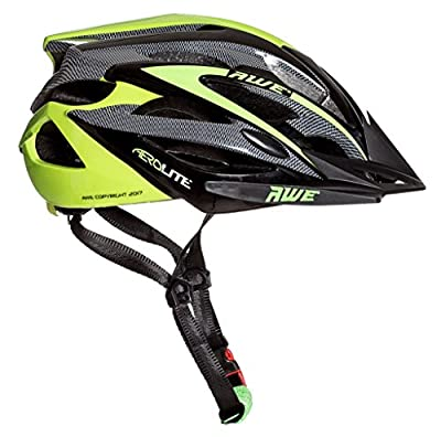 AWE® AeroLite Men's Bicycle Helmet - Black/Green, Size 58-61cm by AutoMotion Factors Limited