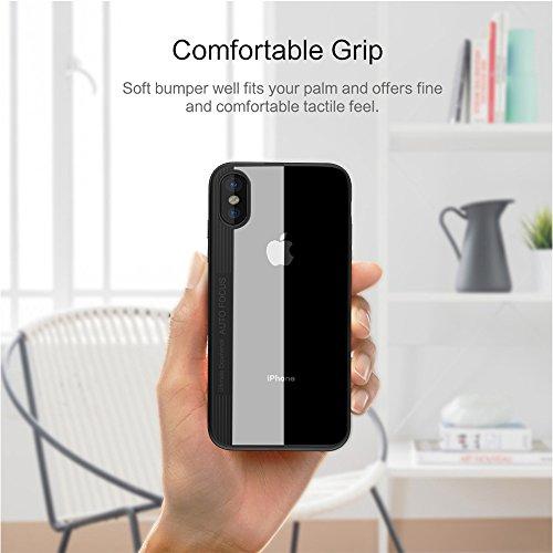 Cover Custodia iPhone X Basstop ibrido a tre strati stile sottile