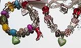 Schmuckset Mädchen Armband und Halskette und Schutzengel mit Beads Perlen Anhänger hübsche Elemente + Geschenkbox