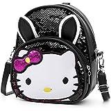 Aashiya Trades led Glitter Sequins Messenger Backpack Cute Crossbody Shoulder Bag for Kids