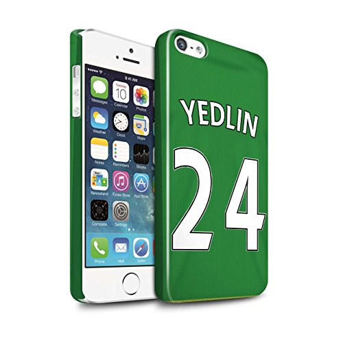 Offiziell Sunderland AFC Hülle / Glanz Snap-On Case für Apple iPhone SE / Pack 24pcs Muster / SAFC Trikot Away 15/16 Kollektion Yedlin