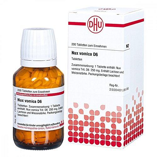 DHU Nux vomica D6, 200 St. Tabletten -
