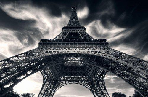 P021101–9–CUADRO DE FOTO TORRE EIFFEL PARIS S/W