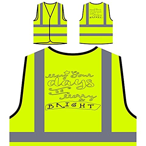 Joyeux Noël Papa Noël cadeau Veste de protection jaune personnalisée à haute visibilité g900v
