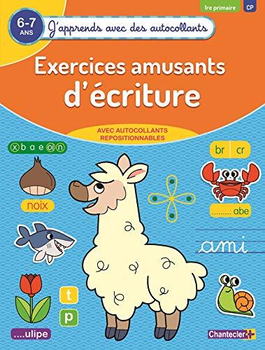 Exercices amusants d'écritures 6-7 ans : J'apprends avec des autocollants