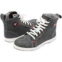 Modeka RAMBLE Herren Motorradstiefel Sneaker Leder - grau Größe 42