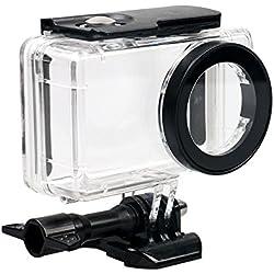 kingwon 45 m sota l'aigua carcassa Funda impermeable protectora per Xiaomi mijia 4 K Mini Acció Accessoris de la càmera amb rosca i de muntatge Base, transparent