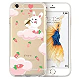 iphone 7/iphone 8s Case, Walmark Mania Series Protective Case Bumper Case [Ultra Thin][Light Weight] [Scratch-Resistant]Clear Soft TPU Back Cover for iphone 7/iphone 8s 4.7 inches (Yummy Bunny)