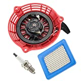 OxoxO Replace Recoil Starter with Air Filter Spark Plug for Honda GC135 GC160 GCV135 GCV160 Generator Engine