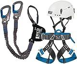 Klettersteigset LACD Pro Evo + Helm Protector & Salewa Gurt Via Ferrata Evo