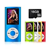 MYMAHDI - Digital, Compact and Portable MP3 / MP4 Player ( Max support 64 GB Micro SD Card ) with Photo Viewer, E-Book Reader and Voice Recorder and FM Radio Video Movie in Darkblue