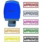 Sseell approuvés auto-encreur en caoutchouc Flash Tampon Auto-encreur pré encrée Re-inkable travail de bureau papeterie Company école timbres avec cadre Ligne de nombreuses couleurs disponibles Hot Pink Ink
