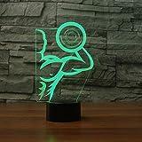 Zyyymx 3D Led Acryl Tischlampe Usb Bunte Steigungen Starke Hantel Muscle Man Nachtlicht Schlafzimmer Nachttischlampe Beleuchtung Dekor Weihnachtsgeschenk