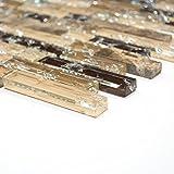 Glasmosaik Mosaikfliesen Fliesen Mosaik Küche Bad WC Wohnbereich Fliesenspiegel Verbund braun Mix Crystal Stein 8mm #489