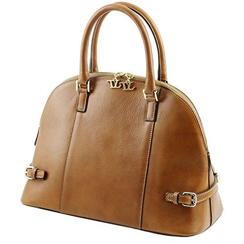 Tuscany Leather - TL Bag - Sac à main en cuir avec boucles Noir - TL141235/2 Rouge