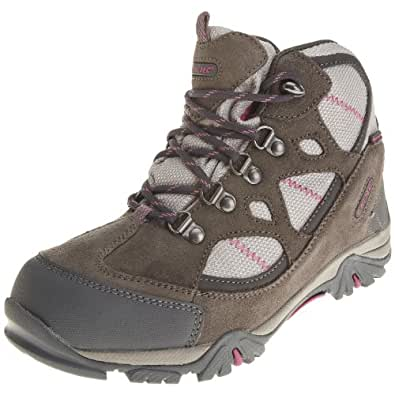 Hi Tec Renegade Trail WP JR HOH1098000, Unisex - Kinder, Trekking- & Wanderschuhe, Grau (Hot Grey/Warm Grey/Rose 52), EU 33 (UK 1) (US 2)