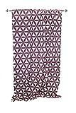 Steinhoff Vorhang Bexhill 140x240cm, 100% Polyester, Retro-Stil, Aubergine/Lachs