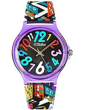 Teenie UC006Kinder–Armbanduhr, Armband aus Kunststoff Farbe schwarz