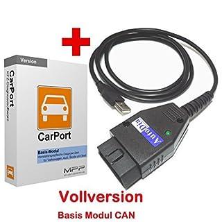 AutoDia K509 mit CarPort Software Basis-Modul CAN USB Diagnose CAN UDS Interface
