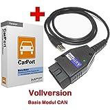AutoDia K509 mit CarPort Software Vollversion Basis-Modul CAN USB Diagnose CAN-Bus Interface VW AUDI SEAT SKODA