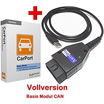 AutoDia K509 mit CarPort Software Basis-Modul CAN USB Diagnose CAN UDS Interface VW AUDI SEAT SKODA