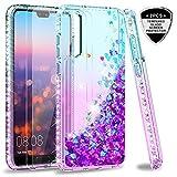 LeYi Custodia Huawei P20 PRO Glitter Cover con Vetro Temperato [2 Pack],Brillantini Diamond TPU...