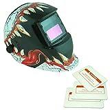 Caretas para Soldar Casco de Soldadura Gafas Escudo Máscara Multi-Formas Energía Solar Oscurecimiento Automático - 9