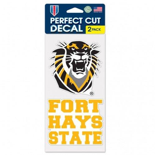 Wincraft Fort Hays State Tigers 10,2x 20,3cm die Cut Aufkleber (Zwei-10,2x 10,2cm Aufkleber) State Tigers