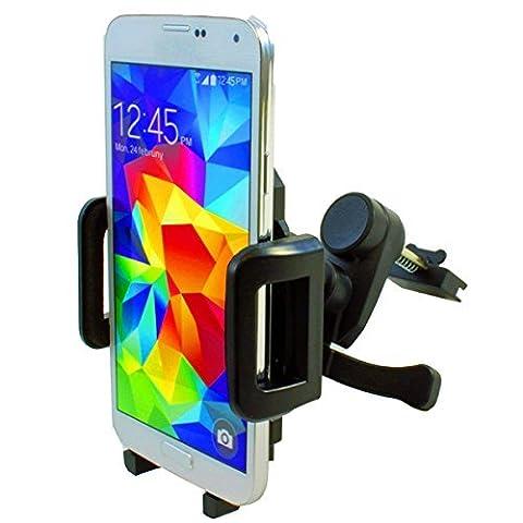 NAVITEC 360° UNIVERSAL LÜFTUNGS-HALTER KFZ AUTO-HALTERUNG drehbar Phone-MOUNT für SAMSUNG GALAXY S3 S4 S5 S6 S7 MINI EDGE ACTIVE NEO NOTE 1 2 3 4 5 A3 A5 A7 A8 A9 / HUAWEI ASCEND P6 P7 P8 MATE LITE MAX Y300 Y330 Y530 G510 / HTC ONE M7 M8 M9 S M DESIRE 510 628-G 820 GOOGLE NEXUS 4X HONOR-6 PLUS 4G LTE ANDROID Y625 G650 Play Mini 8GB 16GB WIFI GPS LG G2 G3 G4 MINI OPTIMUS IPHONE 7 7S 7-Plus 6 S 6s 6S-PLUS 5 5S 5G 4 4G 4S MOTOROLA XT1562 MOTO X PLAY Sony Xperia Z5 Z3 Z3+ Z2 Z1 Z Plus Premium