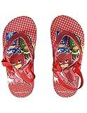 Les Pyjamasques Tongs Paillettes avec élastique Enfant Fille Rouge du 24 au 27 - Rouge, 26/27