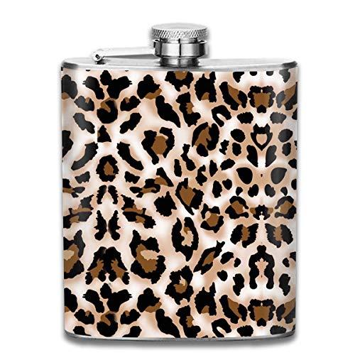 flasks for men Leopard Cheetah Print 7 Oz Stainless Steel Flask